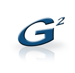 G2 Automated Technologies LLC logo in blue with stylized mirror image